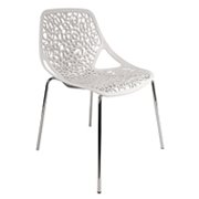 White Spring Cafe Chair