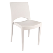 White Stellar Cafe Chair