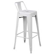 White Xavier Halfback Bar Stool