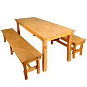 Wooden Garden Bench Set