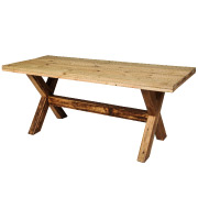 Wooden Scissor Dining Table