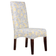 Yellow Floral Patterned Colourful Dining Chair
