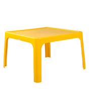 Yellow Square Plastic Table