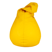 Yellow Leather Bean Bag