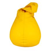 Yellow Leather Bean Bag