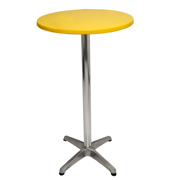 Yellow Round Top Cocktail Table