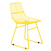 Yellow Wire Round Back Cafe Chair