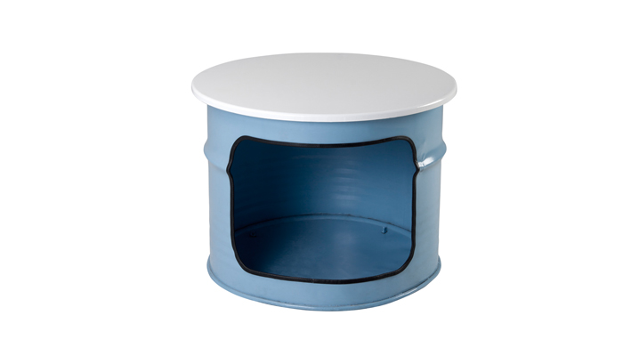 Blue Round Drum Coffee Tables
