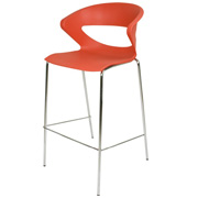 Aspen Bar Stool Red