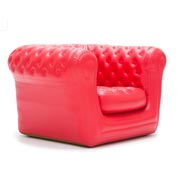 Blofield Red Single Lounger