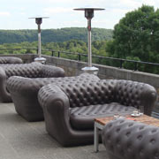 Brown Outdoor Blow up Couch