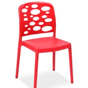 Bubble Café Chair Red