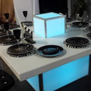 Champagne LED Table with Plinth
