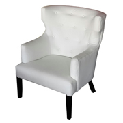 Chavier Single Lounger White