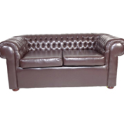 Chesterfield Double Lounger Dark Brown