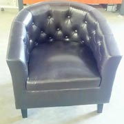Chesterfield Tub Chair Black