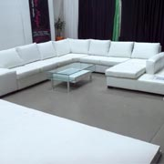 Christopher Corner Lounge Suite White