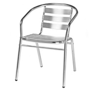Chrome Outdoor Chair