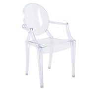 Ghost Cafe Chair Clear With Arms