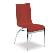 Kahlua Cafe Chair Red Leather