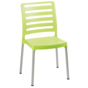 Linear Cafe Chair Green
