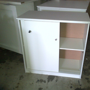 Lockable Cabinet White