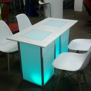 Lumino LED Rectangular Cafe Table
