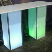 Lumino LED Rectangular Cocktail Table Double Plinth