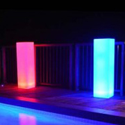 Lumino Square Perspex Light Pillars