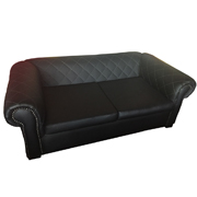 Maddison Black PU Leatherette Double Lounger