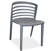 Orbit Slate Cafe Chair Grey