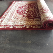Persian Rug Dark Red and Ivory