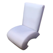 Question Mark White Single Lounger