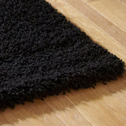Shaggy Rug Plain Black