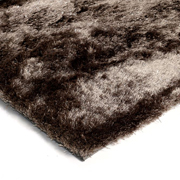 Shaggy Rug Dark Brown Plain
