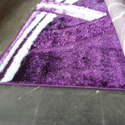 Shaggy Rug Purple with White