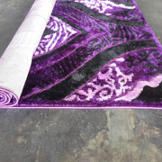 Shaggy Rug Siyah/K Lilac Purple, Black with Light Purple