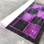 Shaggy Rug Siyah/K Lilac Purple with Black
