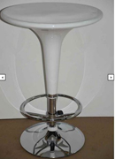 Adjustable Cocktail Table White