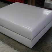 Square Jumbo Ottoman White