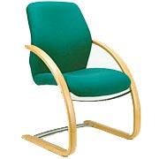 T700 Beech Sleigh Visitor Chair