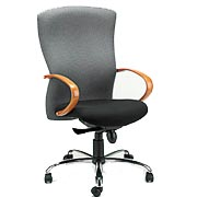 T800 highback cherry arm chair