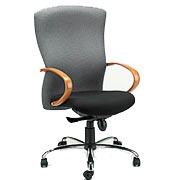 T800 highback cherry arm chair