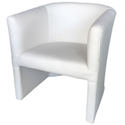 Tristan Tub Chair White Open Single Lounger