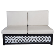 Venetian White Cushions LED Light Double Lounger