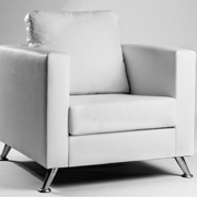 Leather Fiona Single Seater (White)
