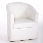 Leather Tub Chair (White)