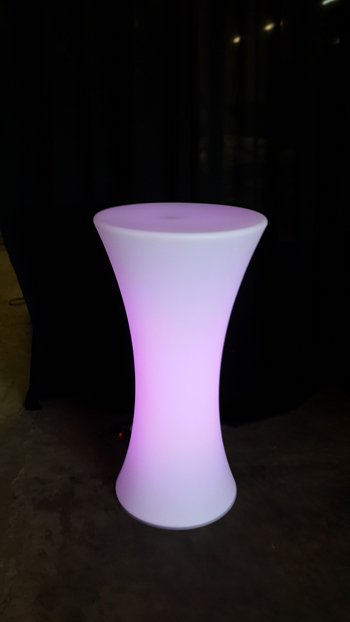 Led table ilt furniture hire rentals inspire furniture for Cocktail tables led