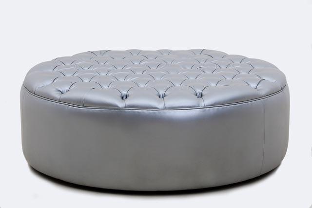 round large ottoman silver