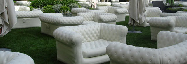 Le Grand Hotel White Blow up couch